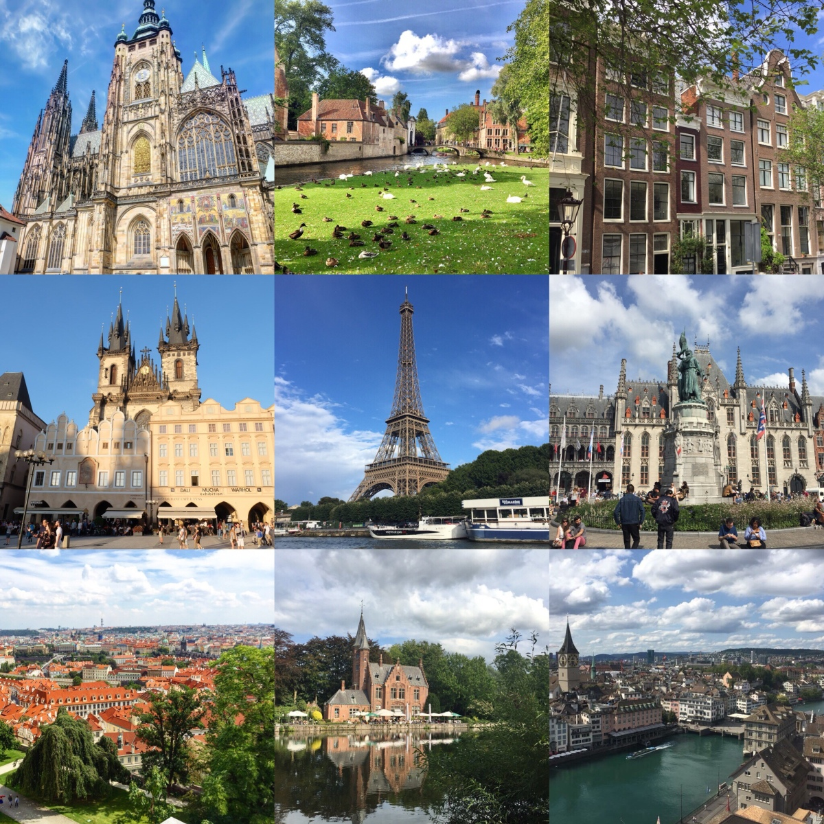 2017 European Trip Itinerary (Our Honeymoon)