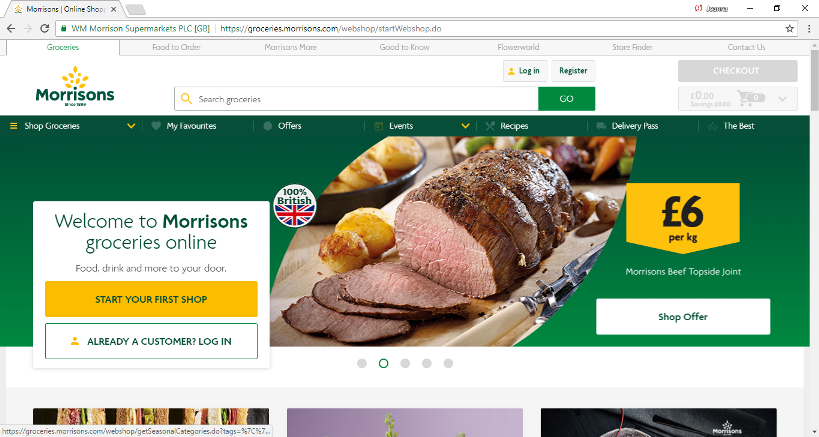 Online Shopping at Morrisons